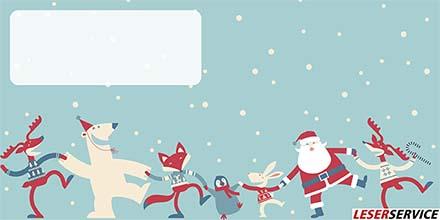 Leserservice Geschenkkarte Tanzender Weihnachtsmann