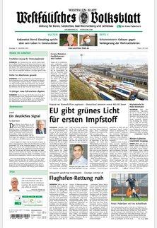 WESTFÄLISCHES VOLKSBLATT -  Zeitung für Büren, Salzkotten, Bad Wünnenberg und Lichtenau