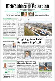 WESTFÄLISCHES VOLKSBLATT -  Zeitung für Delbrück und Hövelhof