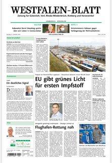 WESTFALEN-BLATT - Zeitung für Gütersloh, Rheda-Wiedenbrück, Rietberg und Harsewinkel