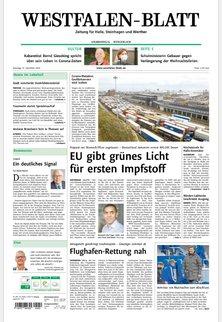 Zeitung für Halle und Borgholzhausen - Westfalen-Blatt