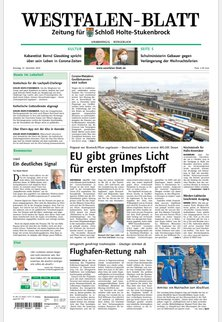 Zeitung für Schloß Holte-Stukenbrock - Westfalen-Blatt
