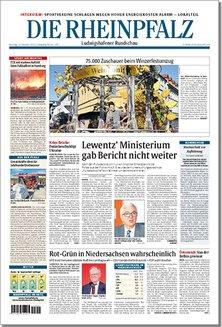 Tageszeitung DIE RHEINPFALZ